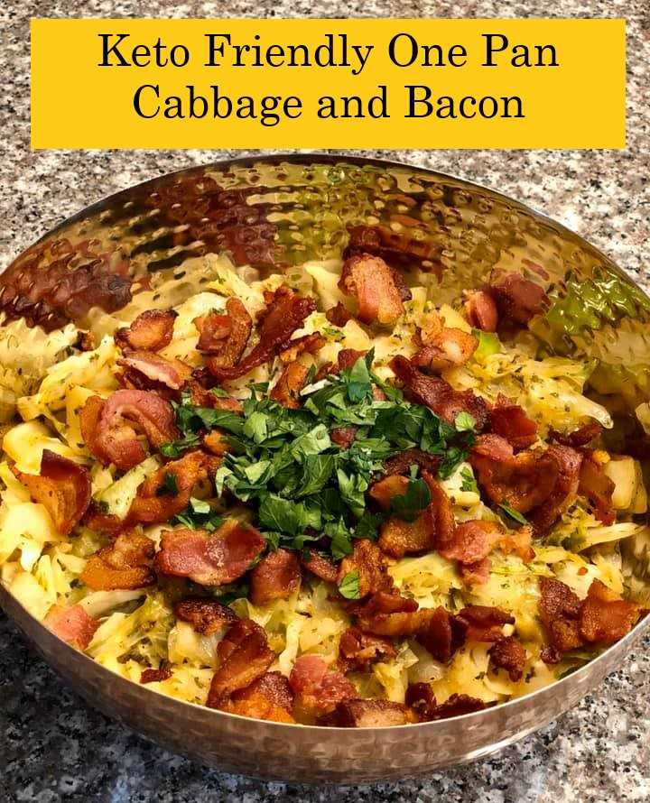 keto friendly one pan cabbage and bacon